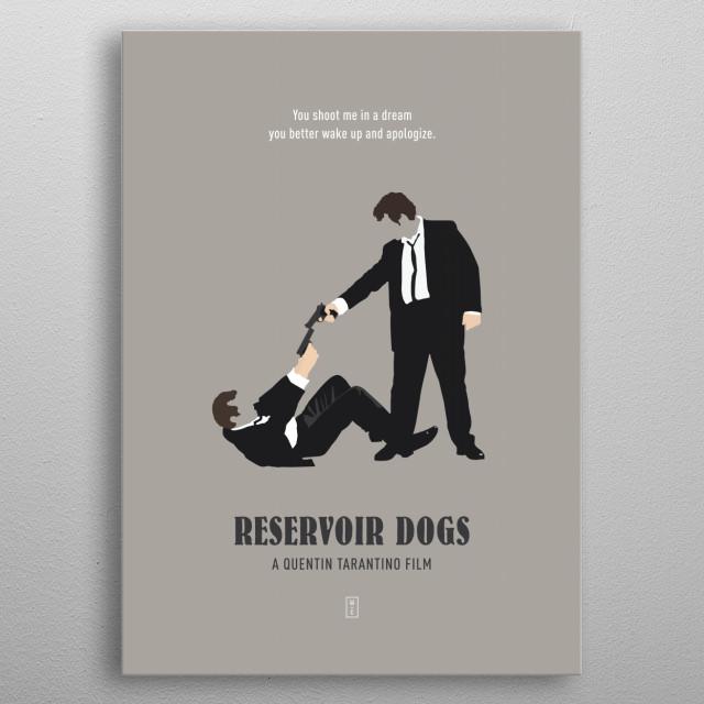 Reservoir Dogs Minimalist Poster metal poster