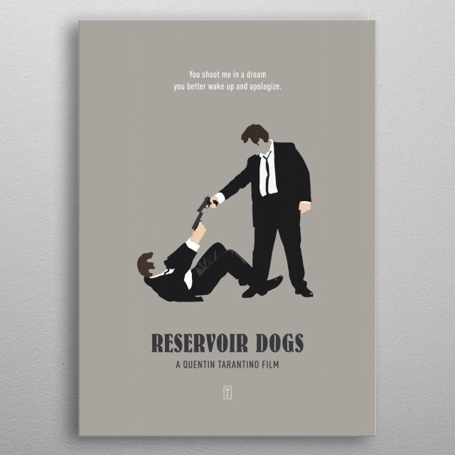 Reservoir Dogs Minimalist Poster metal poster
