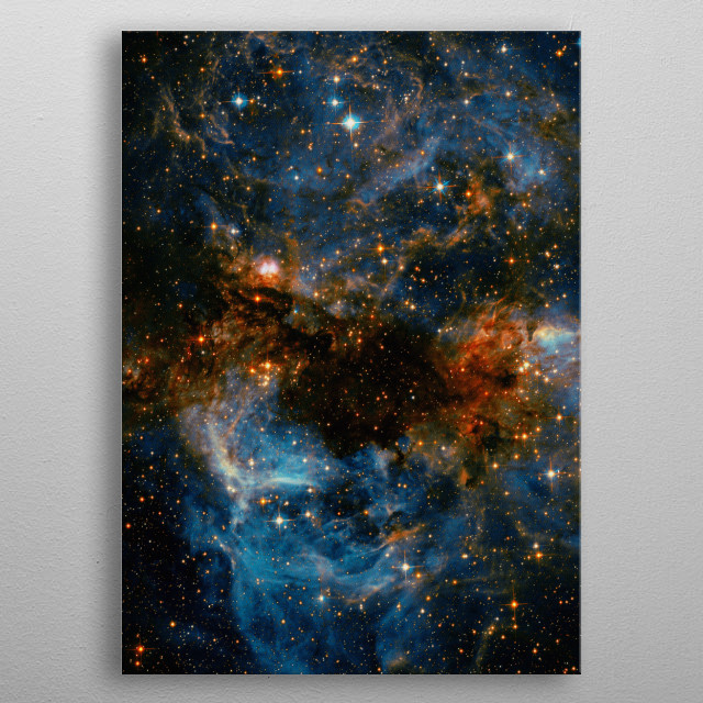 This is an awesome NASA photography of a galaxy storm. Credit: ESA/Hubble and NASA metal poster