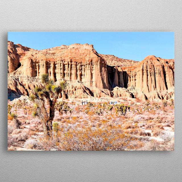 desert in California, USA metal poster