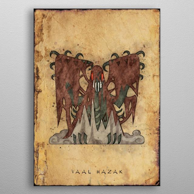 Monster Hunter World - Vaal Hazak Hunter's Notes Poster. metal poster