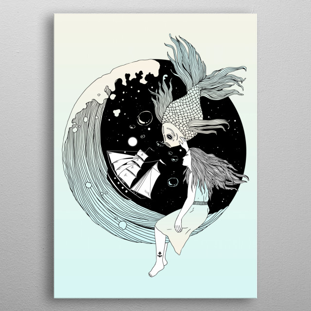 Or the Muse and the Seemingly Eternal Search for Existence in the Sea of Darkness and Dreams metal poster