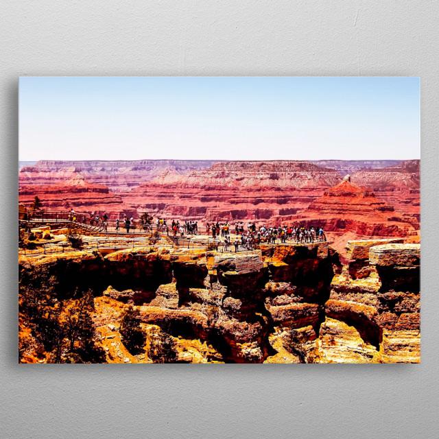 At Grand Canyon national park, USA metal poster
