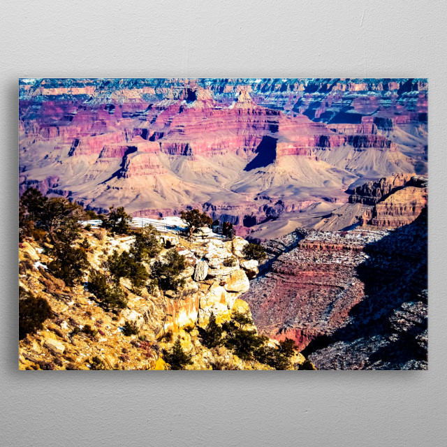 At Grand Canyon national park, USA metal poster