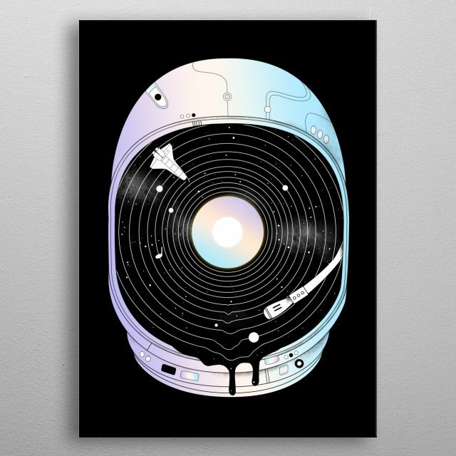 Silence is music to my ears. metal poster