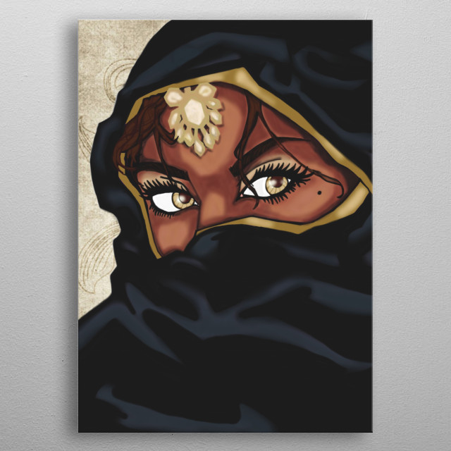 Beautiful Arabian Eyes metal poster