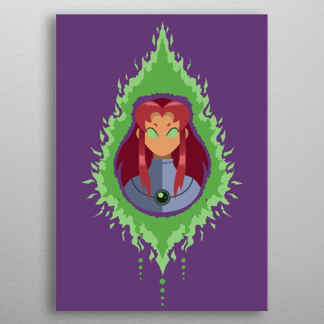 Teen Titans fan? Fight crime with style ! Take Starfire home with you ♥ metal poster