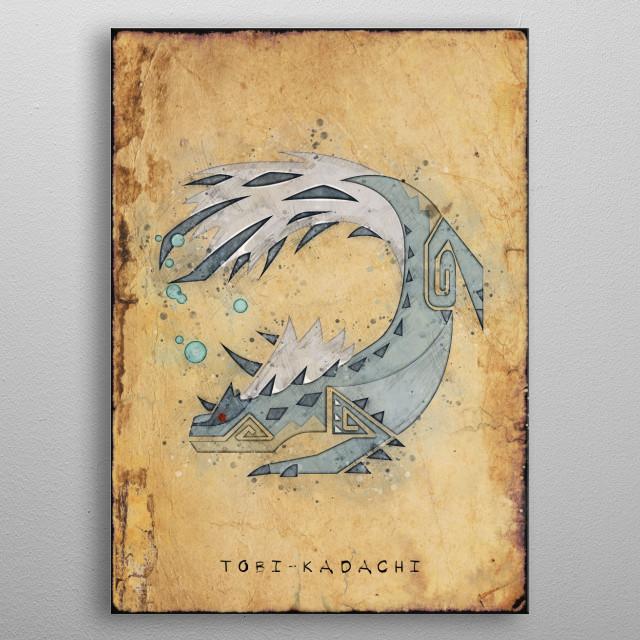 Monster Hunter World - Tobi Kadachi Hunter's Notes Poster. metal poster
