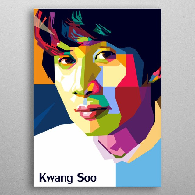 LeeKwangSoo is a South Korean actor, entertainer, and model. He made his acting debut in the sitcom Here He Comes metal poster