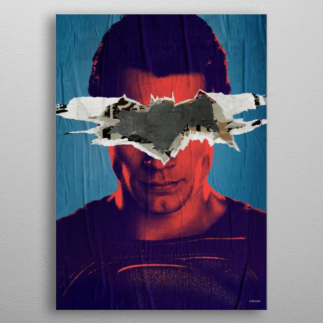 Superman vs Batman metal poster