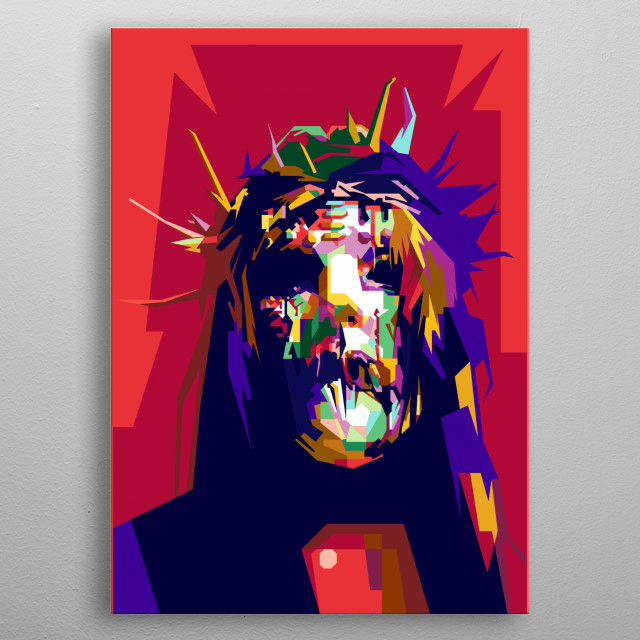 Joey Jordison Design Illustration in WPAP Style metal poster