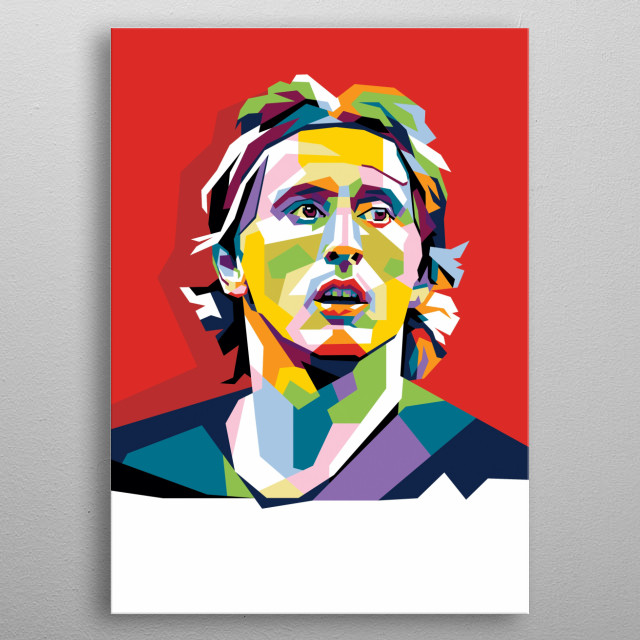 Luka Modric a best football player on fifa balond'or 2018 metal poster
