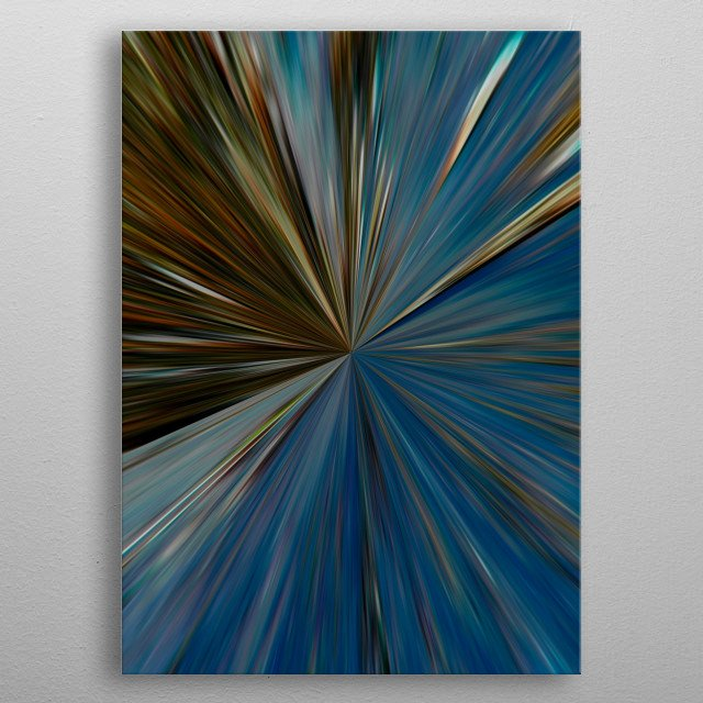 Originally a photograph of a windsurfer at Rhosneigr, Anglesey - I have digitally manipulated it to create this abstract artwork metal poster