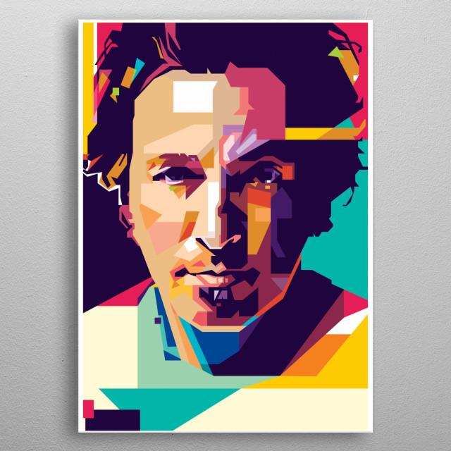 Bruce Springsteen WPAP Style metal poster