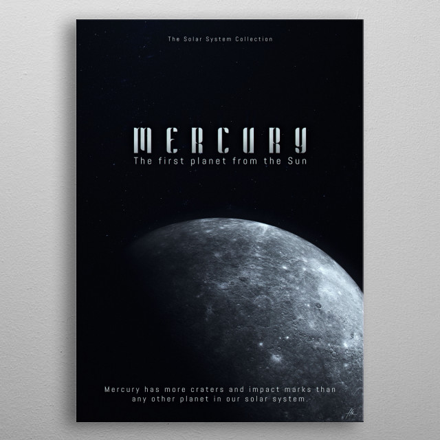 "Mercury, a part of ""The Solar System Collection"". metal poster"