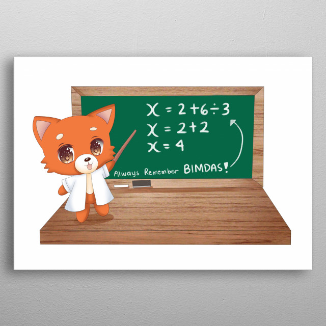 Fiona Fox is a children's book character designed to inspire kids to appriciate science, technology, engineering and maths metal poster