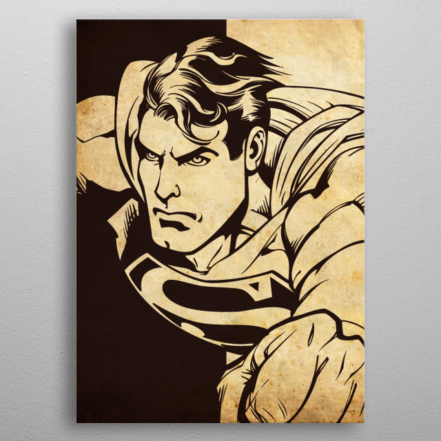 Superman metal poster