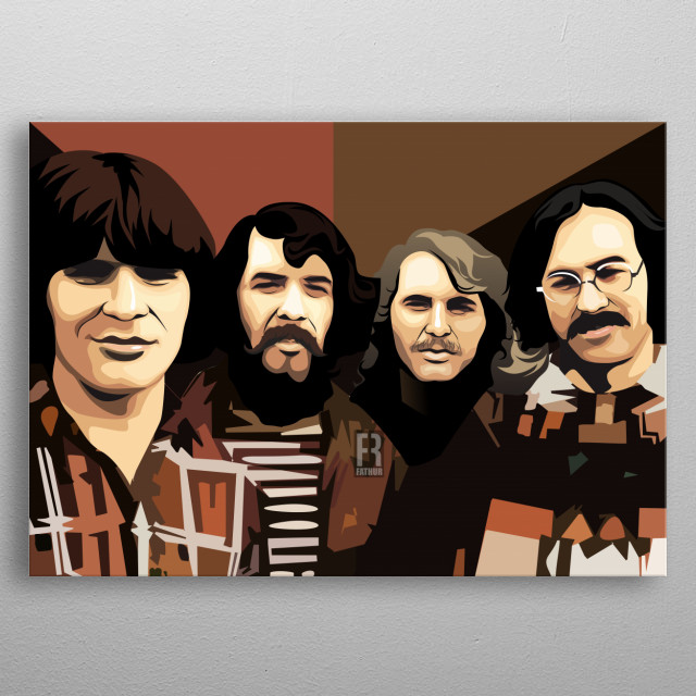 Creedence Clearwater Revival metal poster