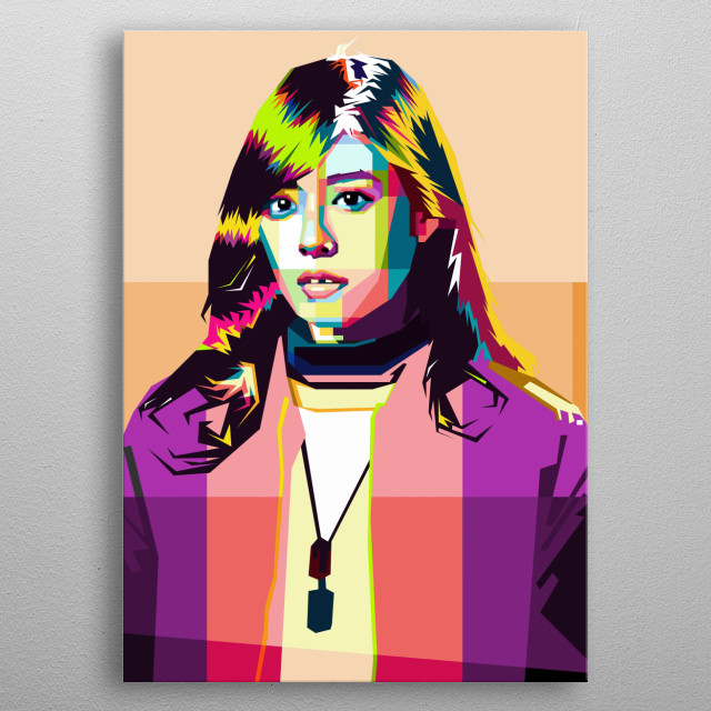 Korean Girl, Design WPAP Pop Art metal poster