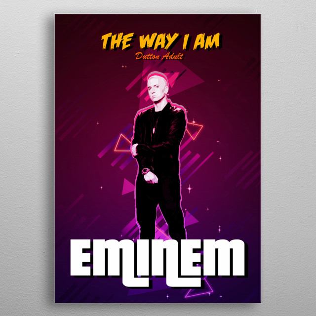 The Way I am - Eminem 2018 book with retro effects metal poster