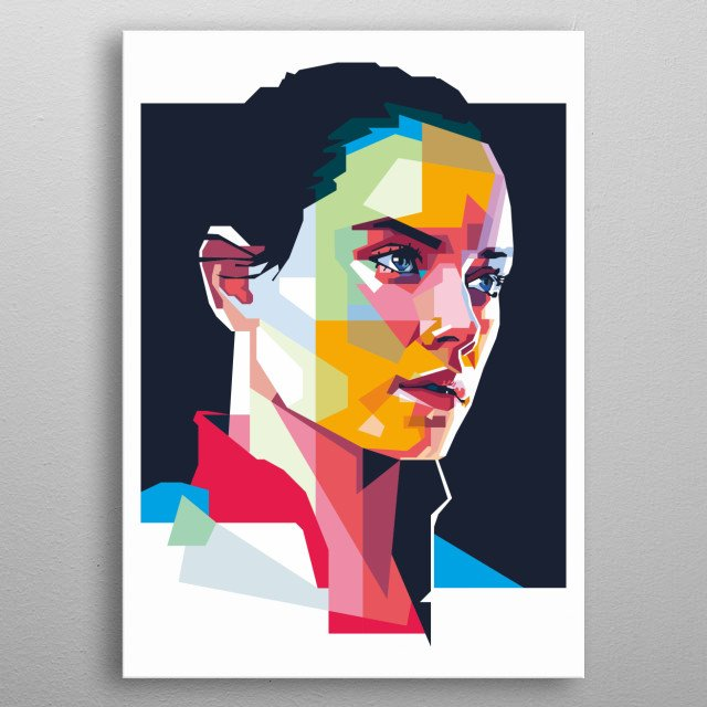 The Last Jedi on WPAP Style metal poster