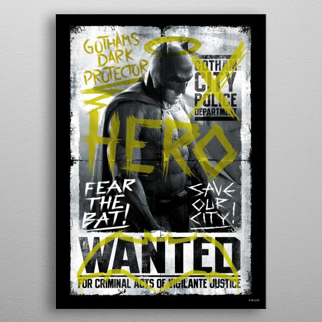 Batman wanted metal poster