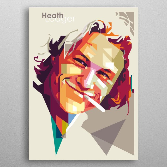 Heath on WPAP Style metal poster