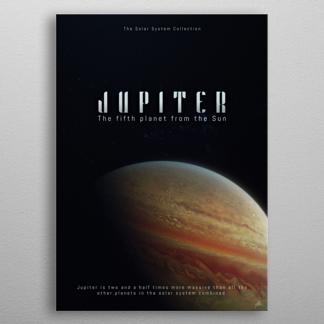 """Jupiter, a part of """"The Solar System Collection"""". metal poster"""