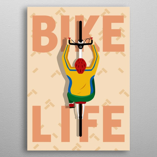 the artwork inspired by people's positive hobbies for their health. metal poster