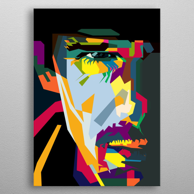 This is my WPAP (Wedha's Pop Art Portrait) of Most Popular Ethan Hawke Hollywood actor  you enjoy this art.... metal poster