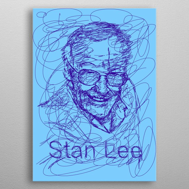 Stan Lee was an American comic book writer, editor, and publisher who was active from the 1940s to the 2010s. metal poster