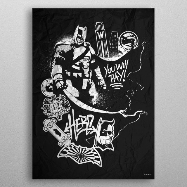 High-quality metal print from amazing Urban Renegades collection will bring unique style to your space and will show off your personality. metal poster