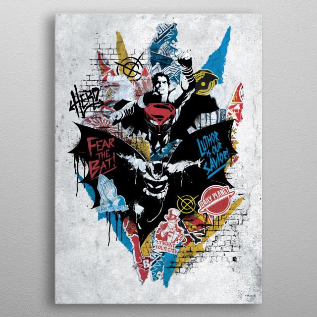 Renegades grey metal poster