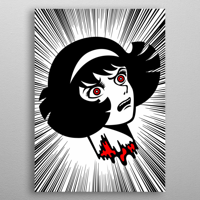 Miki is a witch! metal poster