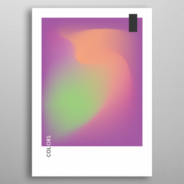 Sense is not description and words. But all I can say is blending the colors of space . metal poster