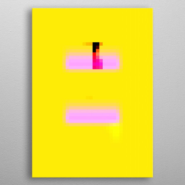 This pixelscape is similar to Color Field painting that emerged in New York City during the 1940s and 1950s. metal poster