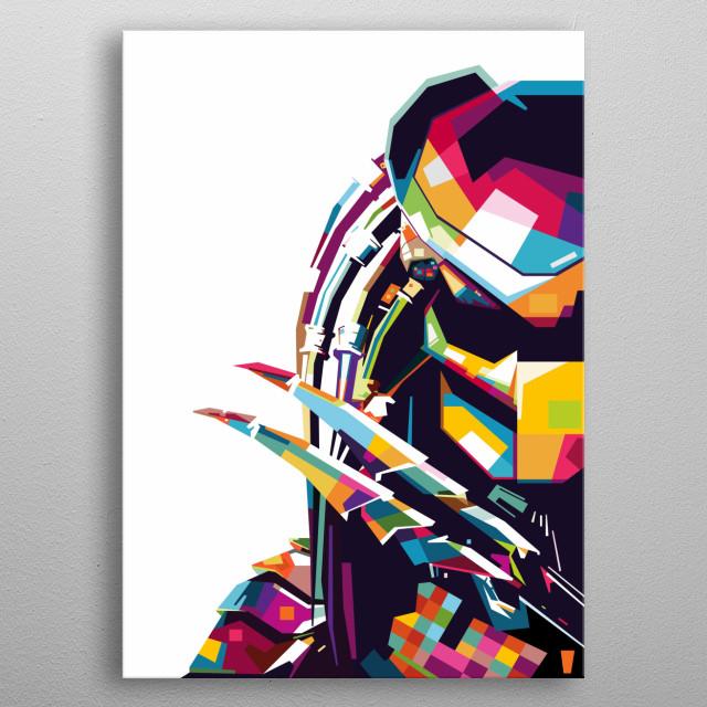 Inspiration by Alien vs Predator Movie metal poster