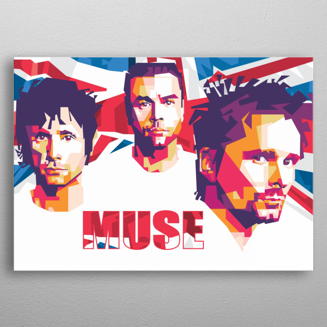 Muse is a group rock music from inggris metal poster