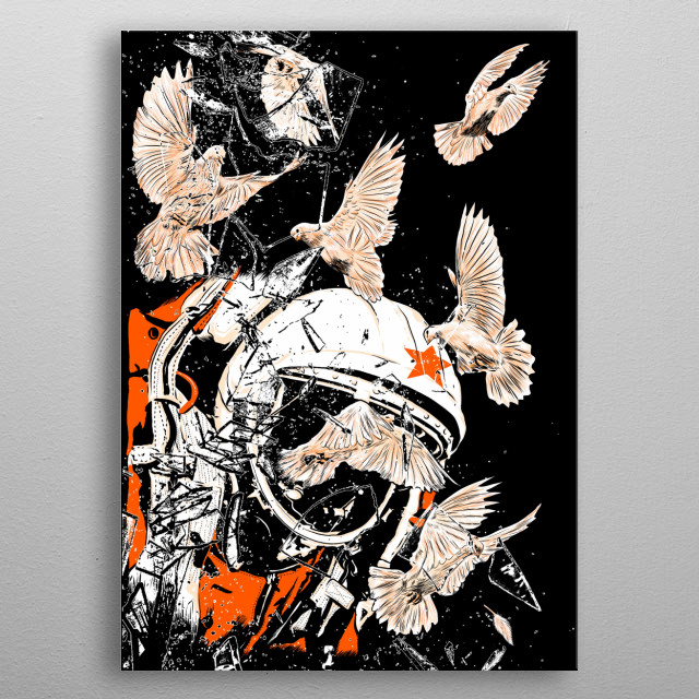 That's one small step for man, one giant leap for mankind.  metal poster