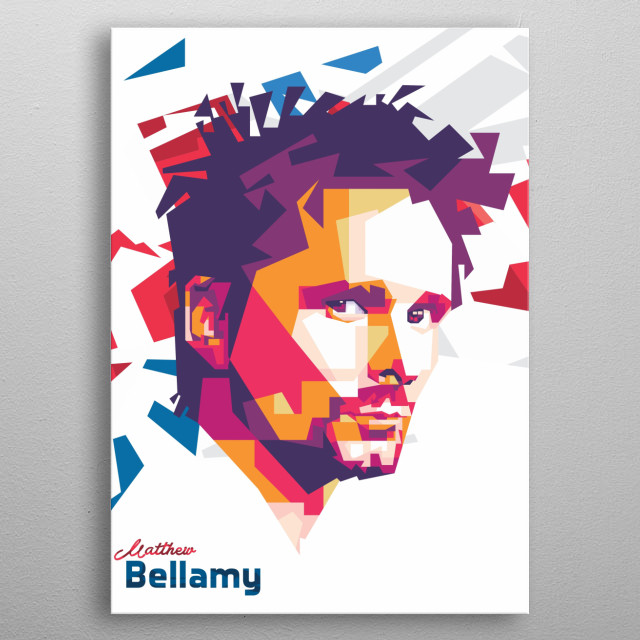 Matthew Bellamy is a vocals of Muse metal poster
