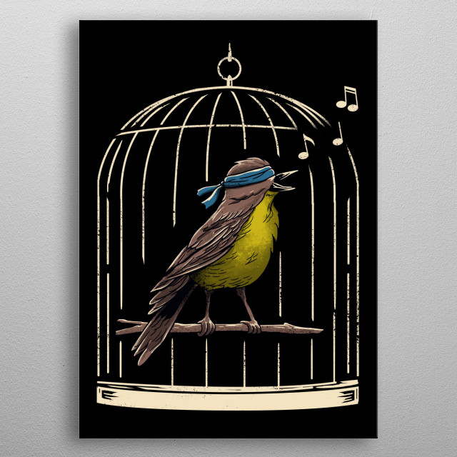 Just follow the sound of the birds. metal poster