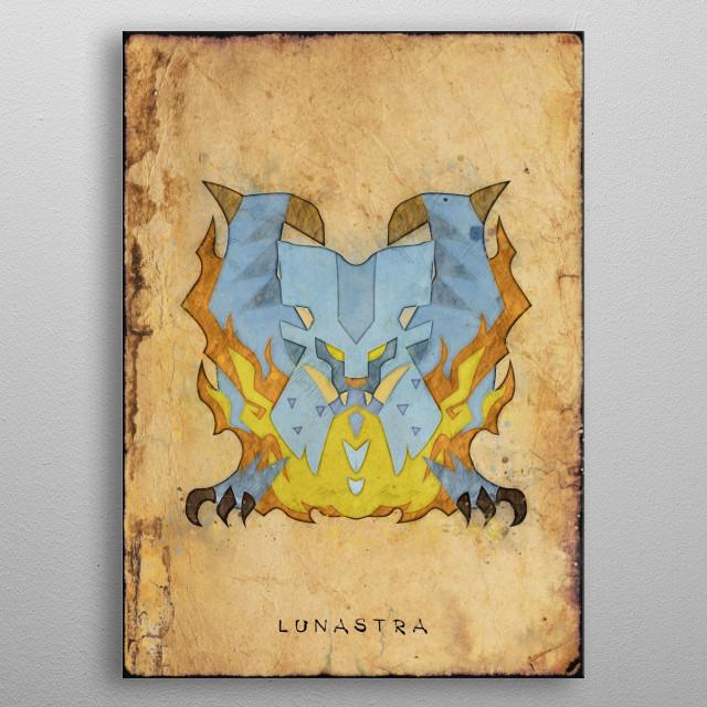Monster Hunter World - Lunastra Hunter's Notes Poster metal poster