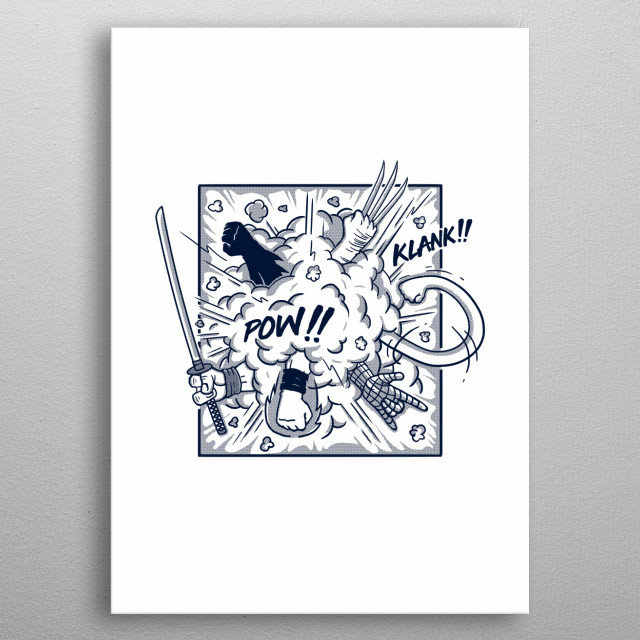 High-quality metal print from amazing Movies And Comics Inspired Art collection will bring unique style to your space and will show off your personality. metal poster