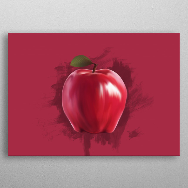 Red Apple - Simple Design For Room metal poster