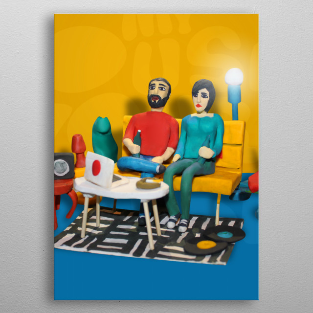 My house is your house - visual made with modeling clay - 2018 metal poster