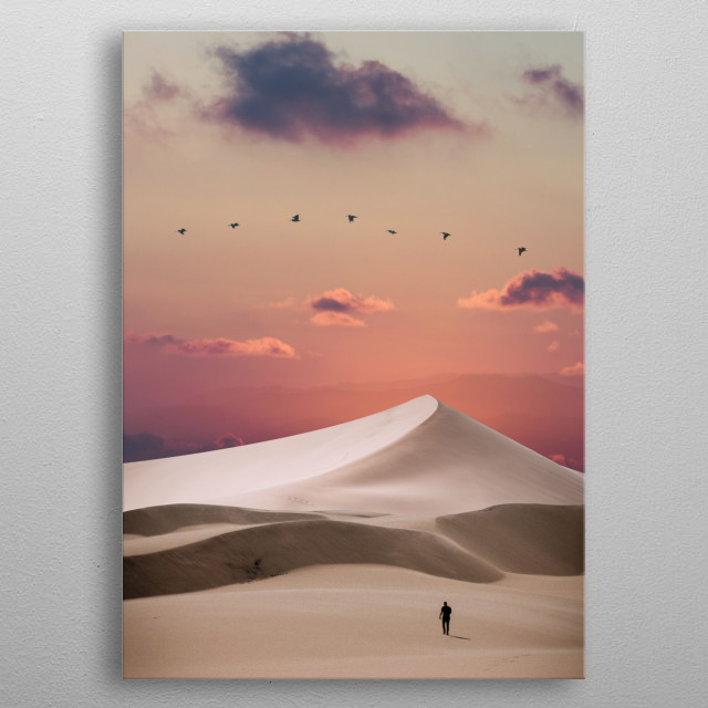 Desert Walk photomanipulation  metal poster