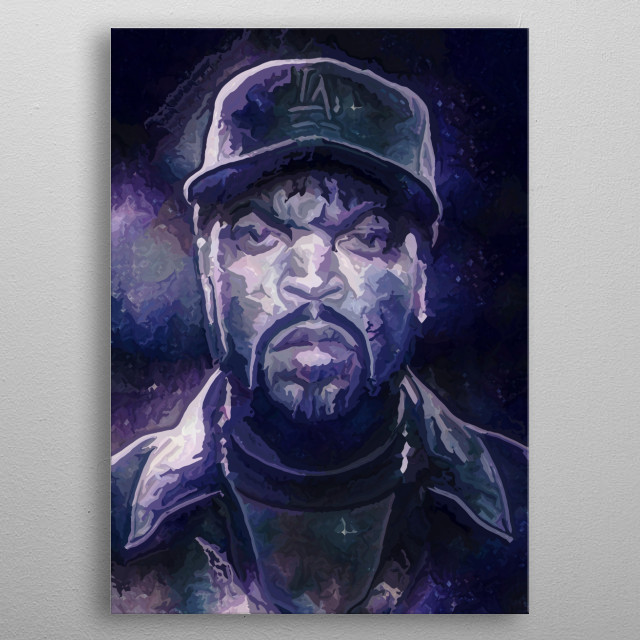 Ice Cube. It was a good day making this one. Made in Krita using a hand painted nebula and a huge array of effects. metal poster