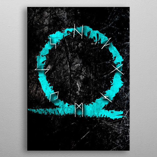 Runic Letters Norse Mythology inspired Video Game Poster metal poster