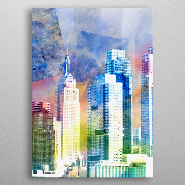 Modern art. New York's skyscrapers metal poster