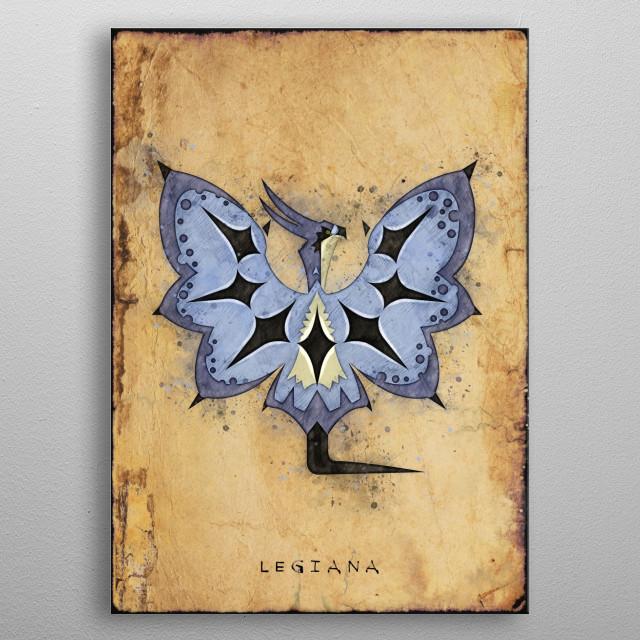 Monster Hunter World - Legiana Hunter's Notes Poster metal poster